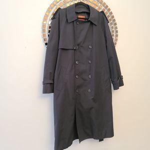 Moores Vintage Trench Coat Black Size 40 Reg